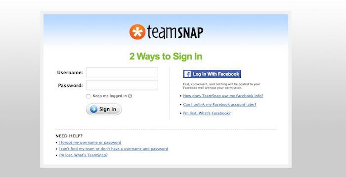 teamsnap login