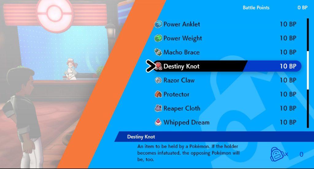 How can You use the Destiny Knot Pokémon Sword?